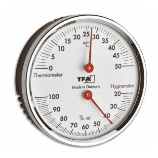 Thermo-Hygrometer m. roten Zeigern