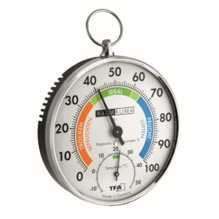 Thermo-Hygrometer, Haar-Synthetig, farbig